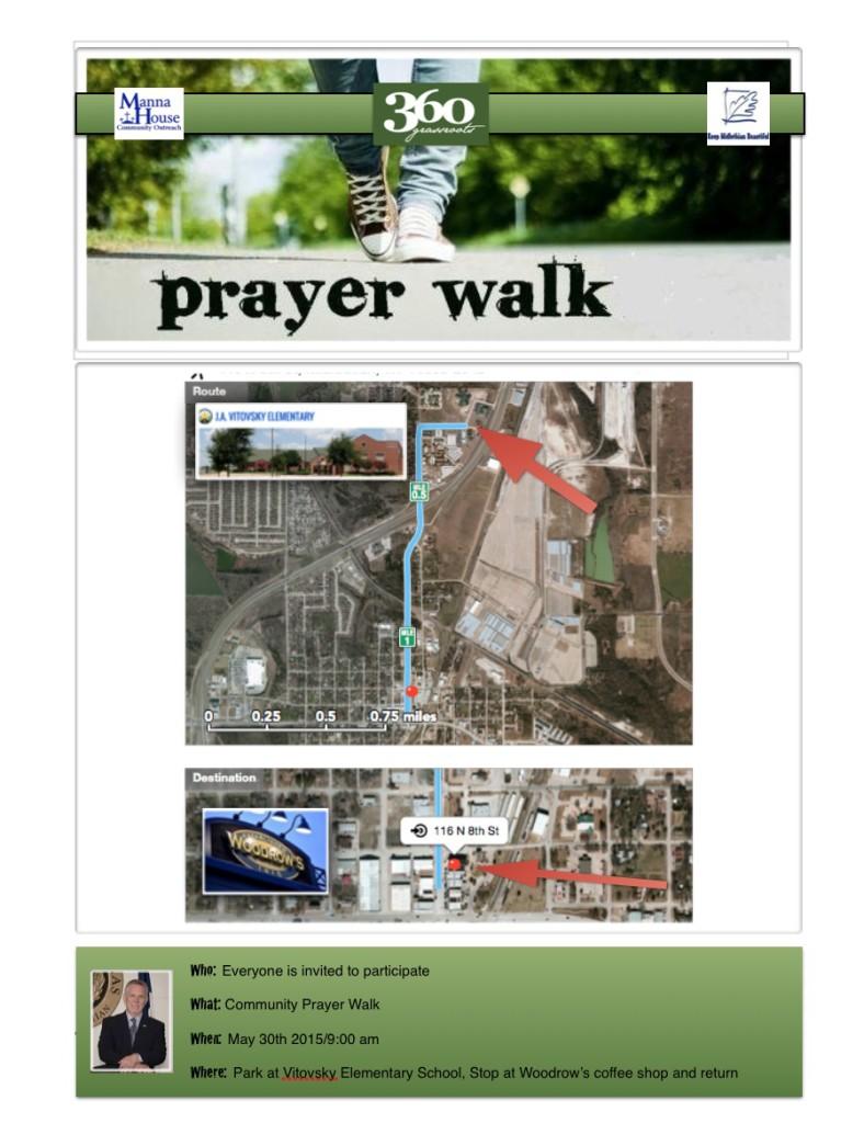 prayer walk flyer